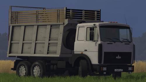 Моды для farming simulator 2015 маз 5516 с прицепом скачать